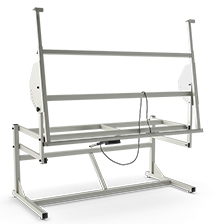 "Adjustable Frame for Wire Harness Boards - 72""W x 36""D, Electric Lift, Manual Tilt"