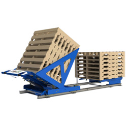 Flow Rail Pallet Stacking & Return Device