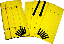 Parking Column Protector - Yellow Kit: 4 Corners, 4 Planks, Black Straps