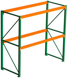 Pallet Rack Starter - 120h x 48d x 108w, 2 Beam Levels - 7320 Cap. Beams
