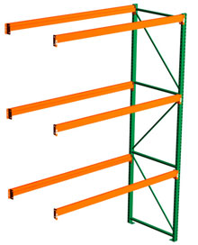 Pallet Rack Adder - 120h x 48d x 120w, 3 Beam Levels - 6700 Cap. Beams