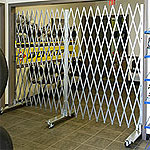 Portable folding security gate