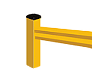 "Lite-Duty Guard Rail - End Post, 18""H"