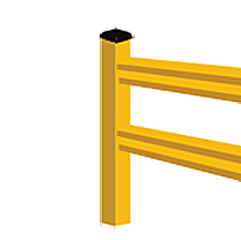 "Lite-Duty Guard Rail - End Post, 42""H"