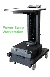 Mobile Workstation with Power Swap Battery Packs - Single Battery Packs