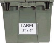 "Carton of 24-ea. 3"" x 5"" Adhesive Clear Label Holders for Attached Lid Containers"