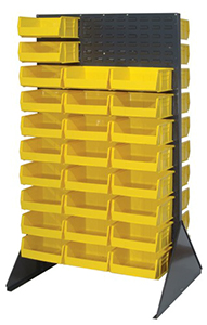 36L x 24W x 66H Heavy Duty Double Sided Louvered Panel Rack with 2000 lbs. Cap.