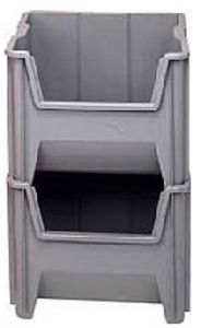 "Giant Stackable Container - 17-1/2""L x 16-1/2""W x 12-1/2""H, Carton of 2"