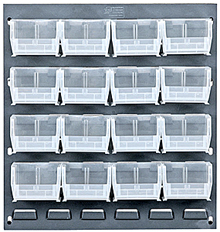 Attrayant Louvered Panel Racks With Clear View Bins. Improve Efficiencies With Wall  Mounted Systems