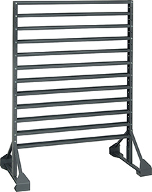 Hanging Bin Rack -  2 sided, 16-rail: 36-in. x 24-in. x 53-in.