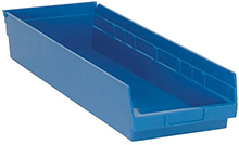 "Shelf Bins - 23-7/8""L x 8-3/8""W x 4""H, Carton of 6"