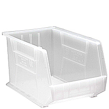 "Clear View Bins - 18"" x 11"" x 10"", Carton of 4"