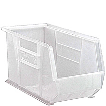 "Clear View Bins - 18"" x 8-1/4"" x 9"", Carton of 6"