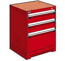 "Heavy Duty Modular Drawer Cabinet - 24""W x 27""D x 30""H, with 3 Drawers"