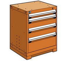 "Heavy Duty Modular Drawer Cabinet - 24""W x 27""D x 30""H, with 4 Drawers"