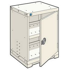 "Heavy Duty Modular Cabinet - 24""W x 21""D x 36""H, with 1 integrated door"