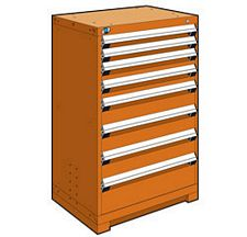 "Heavy Duty Modular Drawer Cabinet - 30""W x 21""D x 46""H, with 8 Drawers"