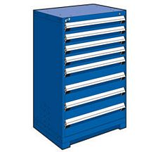 "Heavy Duty Modular Drawer Cabinet - 30""W x 27""D x 46""H, with 8 Drawers"
