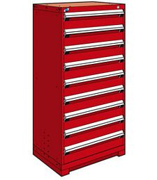 "Heavy Duty Modular Drawer Cabinet - 30""W x 27""D x 60""H, with 9 Drawers"