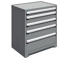"Heavy Duty Modular Drawer Cabinet - 36""W x 24""D x 40""H, with 5 Drawers"