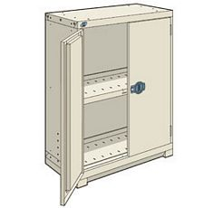 "Heavy Duty Modular Cabinet - 36""W x 24""D x 46""H, with 1 integrated door"