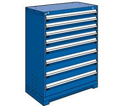 "Heavy Duty Modular Drawer Cabinet - 36""W x 18""D x 46""H, with 8 Drawers"