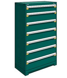 "Heavy Duty Modular Drawer Cabinet - 36""W x 24""D x 60""H, with 7 Drawers"