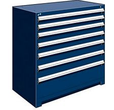 "Heavy Duty Modular Drawer Cabinet - 48""W x 24""D x 46""H, with 7 Drawers"