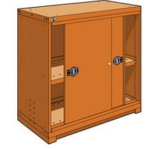 "Heavy Duty Modular Drawer Cabinet - 48""W x 27""D x 46""H, with 1 sliding door"
