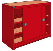 "Heavy Duty Modular Drawer Cabinet - 60""W x 24""D x 46""H, with  1 sliding door"