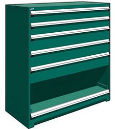 "Heavy Duty Modular Drawer Cabinet - 60""W x 27""D x 60""H, with  5 drawers / 1 roll-out shelf"