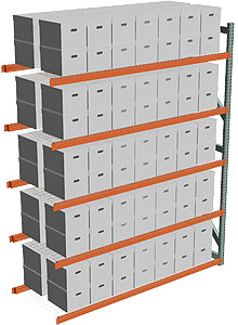 Record Archive Storage Rack - Adder with 5 Shelves - 96w x 36d x 120h - 4,000 lbs./Shelf Cap.