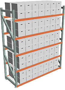 Record Archive Storage Rack - Starter with 5 Shelves - 96w x 36d x 120h - 5,080 lbs./Shelf Cap.