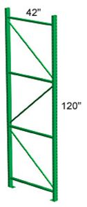 Pallet Rack Upright 42D x 120H