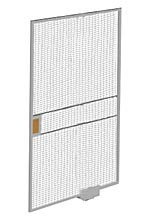 Machine Guard Sliding Door, Heavy Duty Welded Wire, 6'W x 8'H