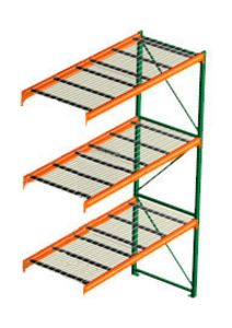 "Pallet Rack with Wire Decking - Adder, 3 Beam Levels - 120""w x 42""d x 144""h - 6700 Cap. Beams"