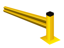 "Lite-Duty Guard Rail 18""H Section with Posts - 9 ft., Adder"