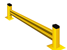 "Lite-Duty Guard Rail 18""H Section with Posts - 7 ft., Starter"