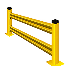 "Lite-Duty Guard Rail 42""H Section with Posts - 9 ft., Starter"