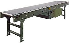 "Powered Belt Conveyor, Model SB - 18"" OAW, 42' long"