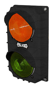 LED Dock Traffic Light, Black Poly Housing - 115V