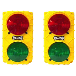 LED Dock Traffic Lights, Black Poly Housing - 115V