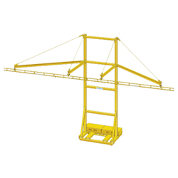 Skid Mounted Mobile Tie-Off System, 20' Single Track, 12' Arm Reach, 1 Person Cap.