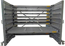 Sheet metal storage rack for heavy duty applications