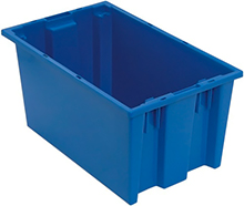 "Stack & Nest Tote - 18""L x 11""W x 9""H, 0.76 Cubic Feet - Carton of 6"