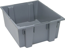 "Stack & Nest Tote - 23-1/2""L x 19-1/2""W x 10""H, 2 Cubic Feet - Carton of 3"