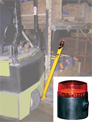 Spring Loaded Steel Pipe Bollard with Strobe Light & Audible Alarm