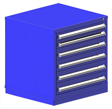 "Rack Engineering Modular Cabinet with (2) 3-1/16"", (4) 4-5/8"" Drawers - 30""W x 27-3/4""D x 32-1/8""H"