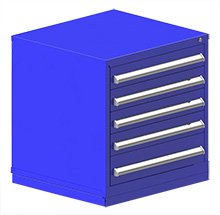 "Rack Engineering Modular Cabinet with (4) 4-5/8"", (1) 6-1/4"" Drawers - 30""W x 27-3/4""D x 32-1/8""H"