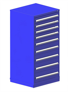 "Rack Engineering Modular Cabinet with (4) 4-5/8"", (1) 5-7/16"", (2) 7-1/16"", (2) 7-13/16"" drawers - 30""W x 27-3/4""D x 61-1/8""H"